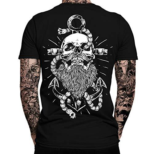 Anker Shirt Herren | Totenkopf | Hamburg | Seemann | Anchor | Skull | Männer T-Shirt | Kiez | Elbe | Hafencity | Norddeutsch | Ostsee | Sailor