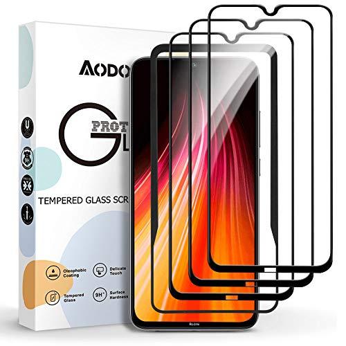 Aodoor Xiaomi Redmi Note 8 Cristal Templado [3 Pack], Protector de Pantalla Redmi Note 8 Templado [Equipado con Marco de posicionamiento] [9H Dureza] Screen Protector para Redmi Note 8