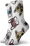 iuitt7rtree Bouledogue français vecteur lunettes de soleil visage athlétique casual chaussettes de course