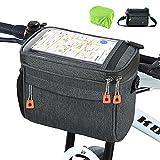 Fahrrad Lenkertasche 4.2L Wasserdichter Fahrradkorb Tasche mit Touchscreen Vorne Fahrradtasche mit...