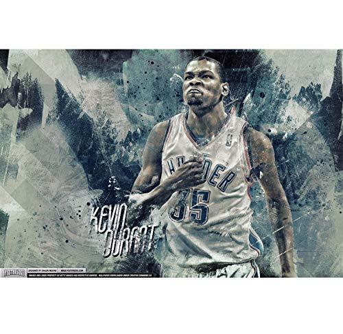 NOVELOVE Wandkunst Bild Kevin Durant Basketball Sport Stern Plakat Drucken Leinwand Gemälde Ohne Rahmen 50 * 70 cm
