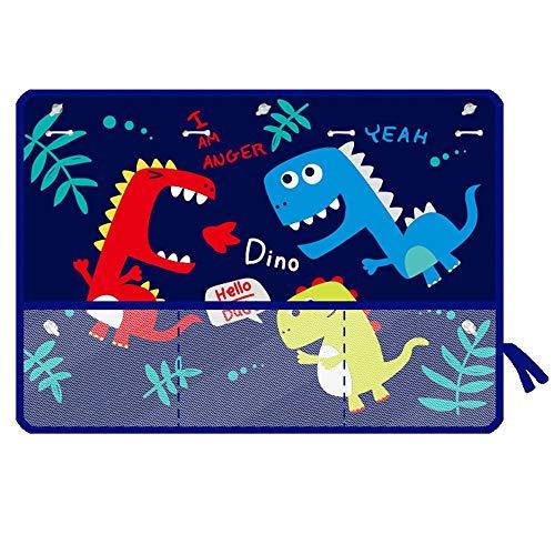 Pare-Soleil Fenêtres de Voiture, Motif de dessin animé Dinosa bleu pour voiture Sun Shade protéger votre bébé bébé des rayons du soleil et des rayons UV, paquet de 2 pour Bébé, Adultes,Chien