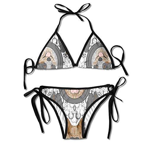 Emonye Australian Cattle Dog Women Sexy Bikini Set Swimsuit Bathing Suit