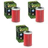 3x Filtro de aceite Daelim VL 125 Daystar 00-07 Hiflo HF169