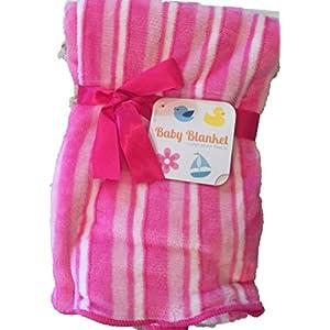 in-Obeytions Soft Plush Fleece Baby Blanket, 30″ x 30″- Great Baby Gift!
