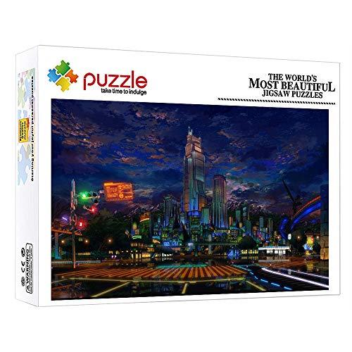 FFGHH Puzzles 1000 Piezas Adultos Ciudad Jigsaw Puzzle De Madera Puzzle Bebe Decoración del Hogar para Niños Adultos Amigo 20.47In X 14.96In