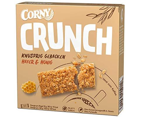 Corny Crunch Hafer & Honig, knackiger Müsliriegel, 9er Pack (9 Schachteln mit je 6 Riegeln)