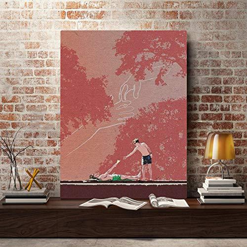YWOHP Pintura en Lienzo Impresión de Mural Póster de Personaje de película Decoración del hogar Sala de Estar Moderna Imagen modular-30x42cm_No_Frame_Nordic_XX376