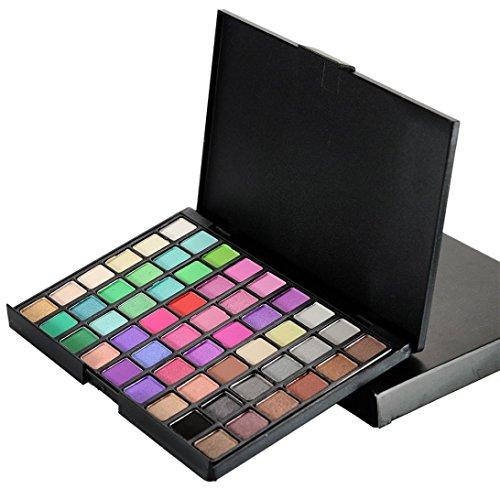 Coloré(TM) Palettes de maquillage 54 couleurs cosmétiques poudré fard à paupières Palette maquillage naturel Shimmer Matt Set (B)