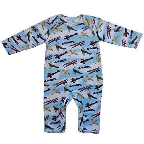 Powell Craft 100% Coton Design Vintage avion Spitfire Combinaison à manches longues pour bébé garçon – 0–6 mois