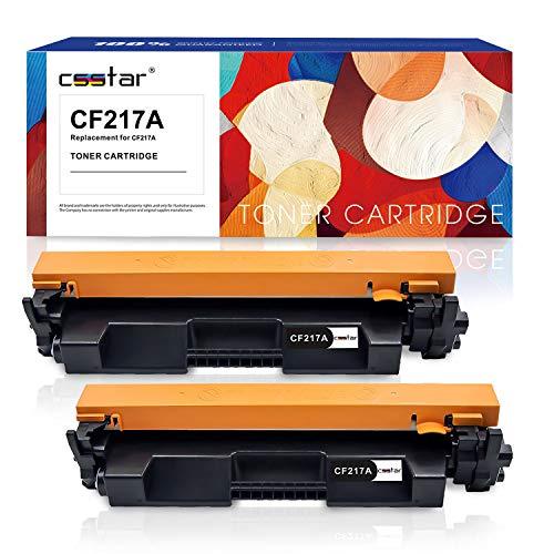 CSSTAR Pack de 2 Compatible Cartuchos de Tóner Reemplazo para 17A CF217A para HP Laserjet Pro MFP M130nw M130fw M130a M102w M102a Impresora, Negro