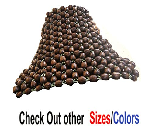 Q1 Beads Wooden Beads Bike seat Cover Cushion for All the Bike Royal Enfield/Pulsar/Splendor/Passion/Glamour/Platina/Shine/CBZ/FZ/Hornet/Apache/Unicorn & Scooty-Pack of 1 (Universal fit,Coffee Color)