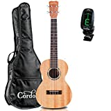 Cordoba 15TM Tenor Ukulele Natural GuitarVault Kit with Cordoba Gig Bag and Clip-On Tuner