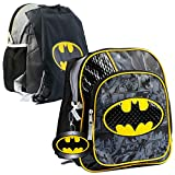 Batman Backpack for Preschool Toddlers ~ Deluxe 12' Batman Mini Backpack for Boys Kids (Batman School Supplies Bundle)