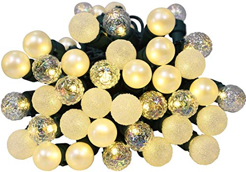 Lycklig Globe String Lights, 19Ft 70 LEDs Mix-Ball Fairy Lights Plug in Christmas Decor String Lights Outdoor Indoor for Tree Patio Party Garden Yard Gazebo Wedding Warm White Ul Listed