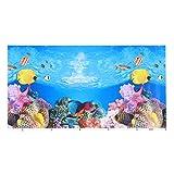 Balacoo Fondo de Acuario Pegatina Realista 3D Papel Tapiz Adhesivo Pecera Imágenes Decorativas Imagen de Fondo Submarino 52 * 30 Cm