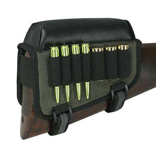 TOURBON Rifle Stock Peine Raiser Escopeta Reposo Mejillas Cartucho de munición 7 Shells Holder - Mano Derecha