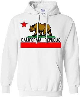 California Republic Borderless Bear Flag Black Text Sweatshirt Hoodie