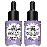 Maccibelle Cuticle Oil 0.5 oz Tea Tree Lavender Heals Dry Cracked Cuticles 2 pcs
