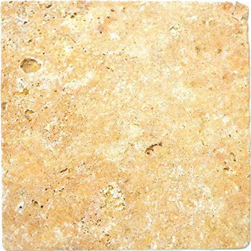 Azulejos travertino de piedra natural, color amarillo y dorado envejecido, para suelo de pared, baño, baño, ducha, cocina, espejo, revestimiento de bañera, panel de mosaico