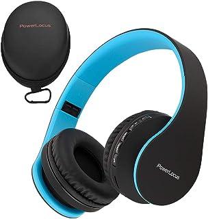 PowerLocus ワイヤレス Bluetooth オーバーイヤー ステレオ 折りたたみ式ヘッドフォン 有線ヘッドセット 内蔵マイク iPhone サムスン LG iPad用 h-40-wireless