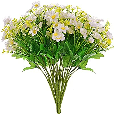 Artificial Fake Flowers Daisy Bulk Bouquets for...