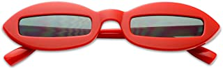 Small Narrow Pointed Oval Clout Cut Out Lens Sunglasses Bad Bunny Style Goggles
