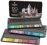 Castle Art Supplies Set da 120 matite colorate per artisti, con mine'soft series' per sovrapposizioni, sfumature e ombreggiature; ideali per libri da colorare e scuola