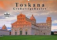 Toskana - Grossarige Bauten (Wandkalender 2022 DIN A2 quer): Dieser Kalender zeigt bedeutende Bauwerke in der Toskana. (Geburtstagskalender, 14 Seiten )