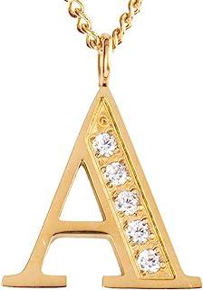 LuckyLy Collar Inicial Letra Olga – Collares de Mujer Acero Inoxidable Baño de Oro 18k y Zirconia Cúbica – Cadena con Dije...