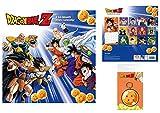 1art1 Dragon Ball, Z Calendario Oficial 2021 (30x30 cm) con 1x Llavero (15x7 cm)