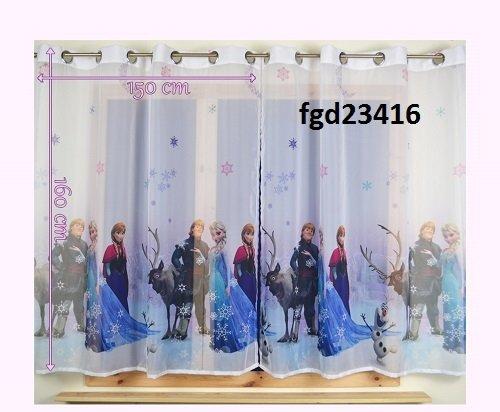 Disney La Reine des Neiges en voile voilage largeur 75 cm x 150 cm x 59 cm