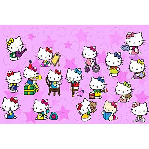 Lfixhssf Giapponese Hellokitty Ciao Kitty Anime Puzzle, Figli maggiorenni di decompressione Giocattoli educativi 300/500/1000/1500 Compresse - Nessuna partizione Lfixhssf