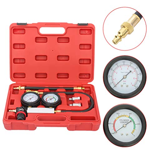 Sale!! Professional Engine Cylinder Compression Tester Gauge Kit Auto Tool