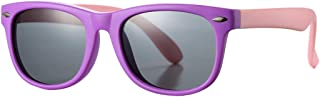 Kids Polarized Sunglasses TPEE Rubber Flexible Shades for Girls Boys Age 3-10