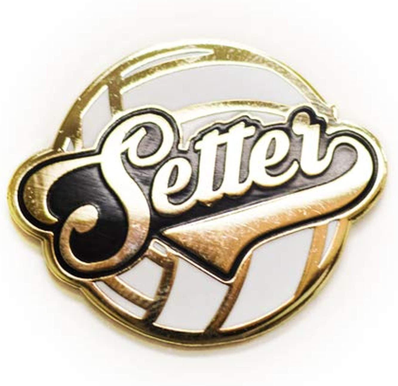 MVW Volleyball Themed Postion/Captain Pins, Setter