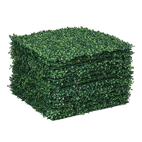 Telón de fondo de vegetación 12 unids paneles artificiales de caja de caja, paneles de pared de cobertura Topiary Muro de hierba Pantalla de privacidad UV Contexto de la pared de la hierba protegida p