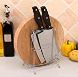 XMZFQ Stainless Steel Knife Stand Multifunctional Cutting Board Holder Kitchen Utensil Rack Non-Slip Drying Rack Display Racks for Kitchen Organizer