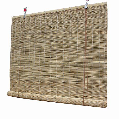 XYNH Enrouleur Bambou Naturel - Rideau De Roseau,Ombre,Isolation Thermique,La Ventilation,Store en Bambou Exterieur Rideau en Bambou pour Porte