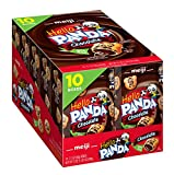 Meiji Hello Panda Cookies, Chocolate Crème Filled - 2.1 oz, Pack of 10 - Bite Sized Cookies with Fun Panda Sports