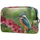 Kit de Maquillaje Neceser Makeup Bolso de Cosméticos Portable Organizador Maletín para Maquillaje Maleta de Makeup Profesional Rama de pájaro de Primavera 18.5x7.5x13cm