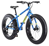 Mongoose Dolomite Fat Tire Men's Mountain Bike | 17-Inch/Medium High-Tensile Steel Frame, 7-Speed, 26-inch Wheels | R4144 - Light Blue