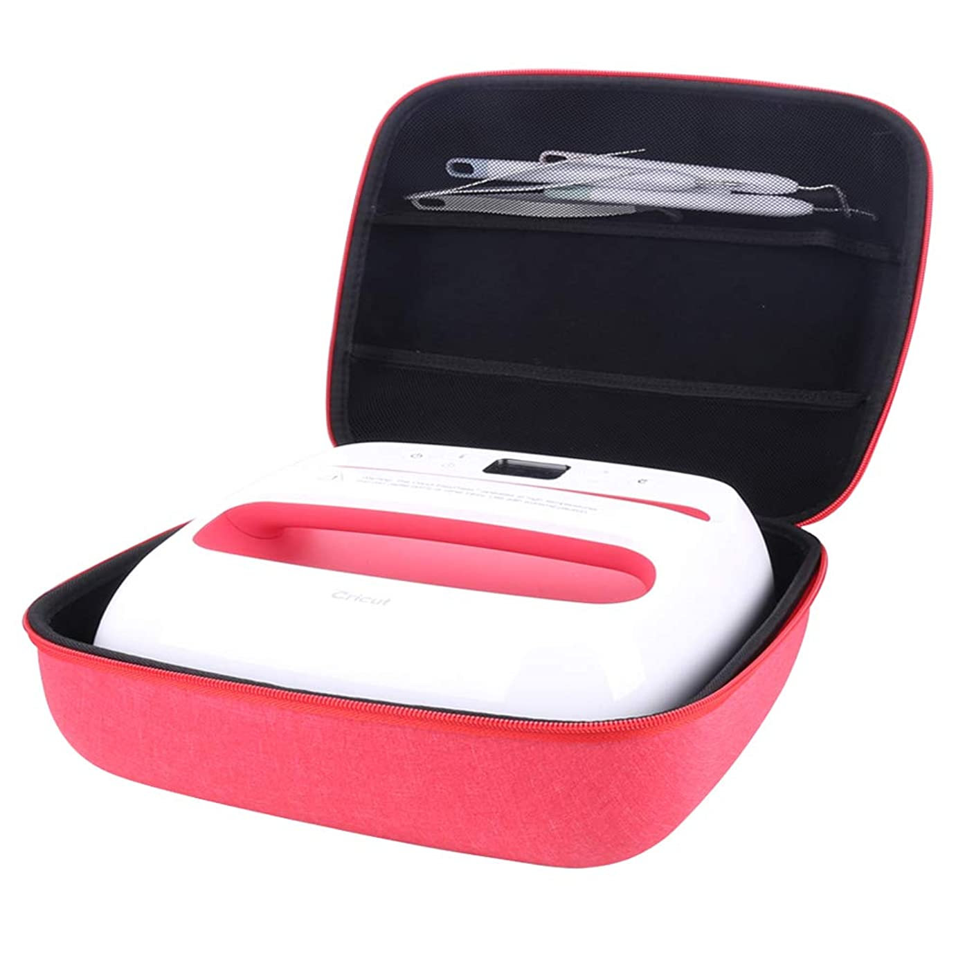 Aenllosi Hard Storage Case Compatible with Cricut EasyPress 2 (red, 12