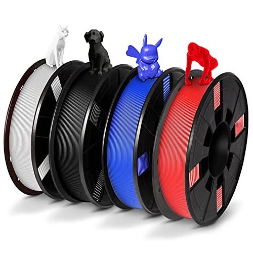 PLA 3D Printer Filament Bundle, PLA Filament 1.75mm Bundle for 3D Printers, Dimensional Accuracy +/-...