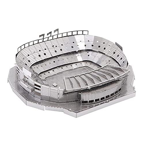 Camp NOU Fußballstadion 3D Metall Puzzles Barcelona Architektur Modell BAU Kit Kinder Puzzle Spielzeug Neuheit Andenken Geschenk Desktop Dekorationen