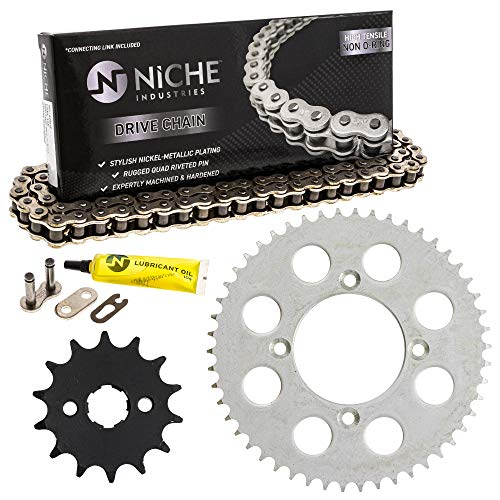 NICHE Drive Sprocket Chain Combo for Honda XR100R CRF100F Front 14 Rear 50 Tooth 428HZ Standard 118 Links