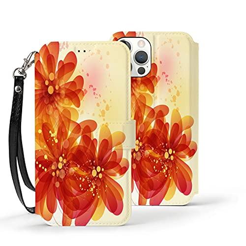 Funda para iPhone 12,Funda Tipo Cartera para iPhone 12 con Tarjetero,cártamo,Funda Protectora Interior a Prueba de Golpes de TPU para iPhone 12 de 6.1 Pulgadas
