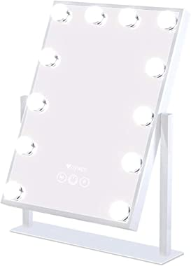Voyage Hollywood Style Mirror with 12x3W Dimmable LED Lights with Touch Control - Premium Vanity Makeup Mirror with Lights Ta