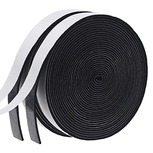 Weather Stripping Door Seal Strip for Doors and Windows, Foam Insulation Tape Self Adhesive,Sound Proof,Weatherstrip,Pipe Cooling, Air Conditioning Seal Strip (W:1In xT: 1/8In XL: 33Ft x 2 Roll)