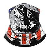 American Welder Neck Gaiter Headwear Bandana Magic Scarf Balaclava Face Sun Mask Black